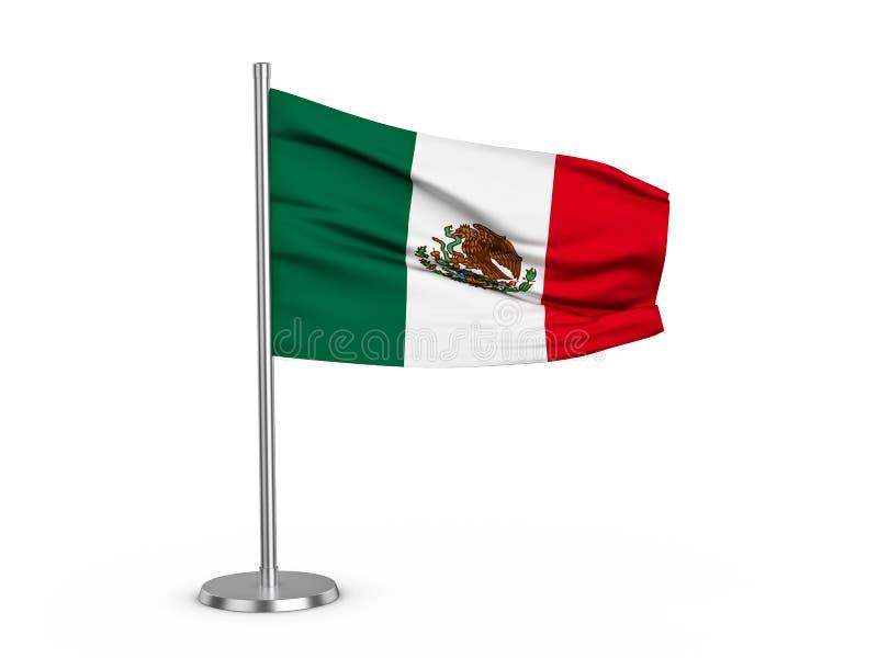 Klappende vlag Mexico royalty-vrije illustratie