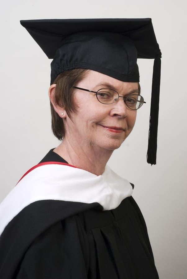 klar avläggande av examenprofessor arkivbild