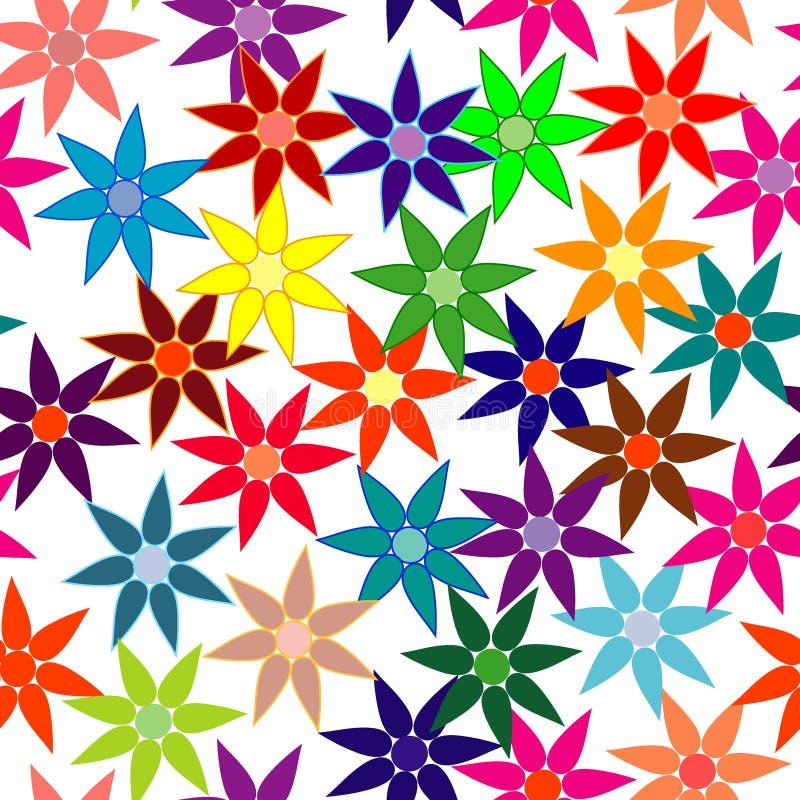 Klar, bunt, Blumenhintergrund wiederholend stock abbildung