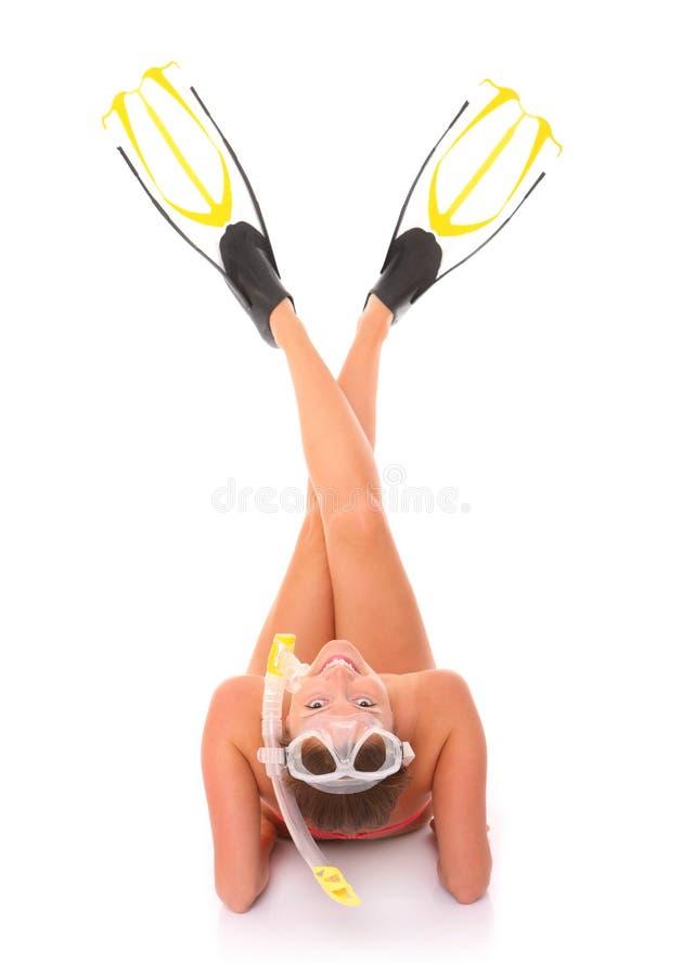 klar snorkeling fotografering för bildbyråer