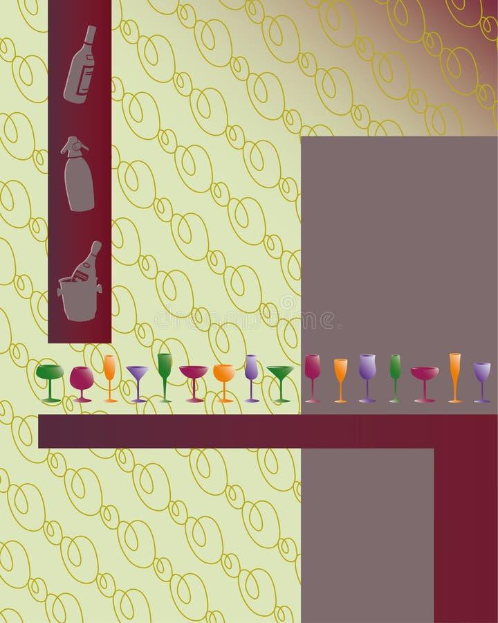 klar text för drinkmeny stock illustrationer