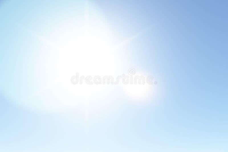 Klara Sunny Sky i sommar arkivbild