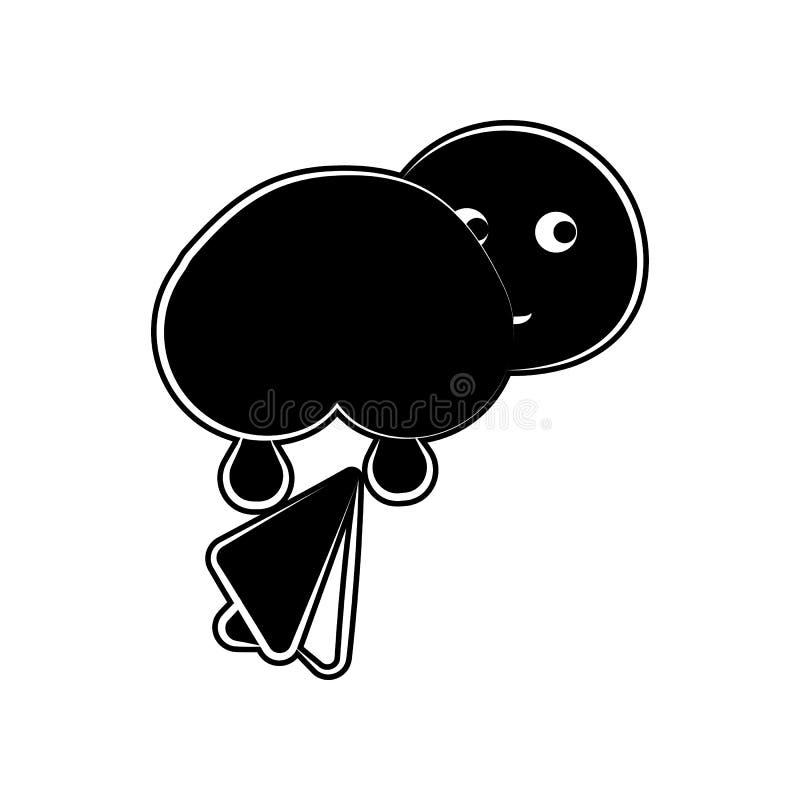Klare Babygoldikone Element der Mutterschaft für bewegliches Konzept und Netz Appsikone Glyph, flache Ikone für Websiteentwurf un stock abbildung
