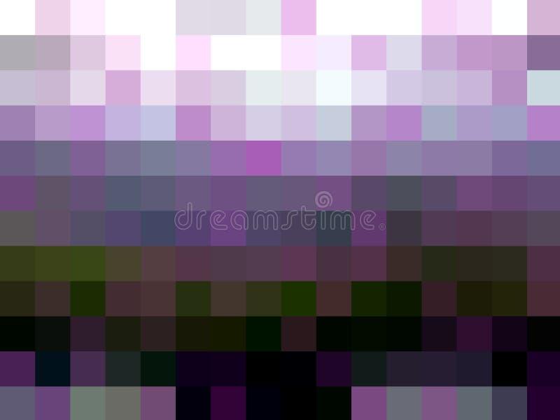 Klare purpurrote violette bunte Quadratgeometrielichter, abstrakter Hintergrund lizenzfreie abbildung