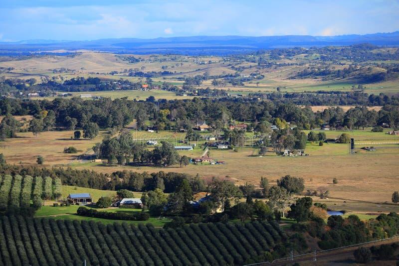 Klare Sichten über australischer Landschaft stockfoto