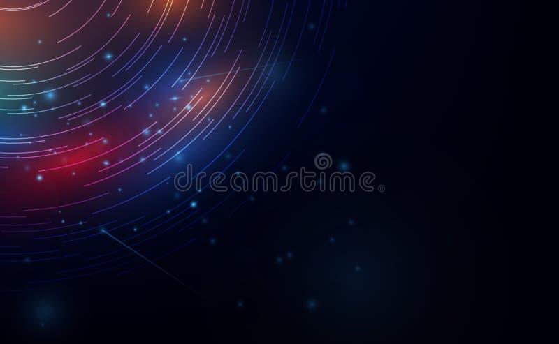 Klarer abstrakter Hintergrund Schöner Entwurf des Rotationsrahmens Mystisches Portal Helle Bereichlinse Drehende Linien Vektor vektor abbildung