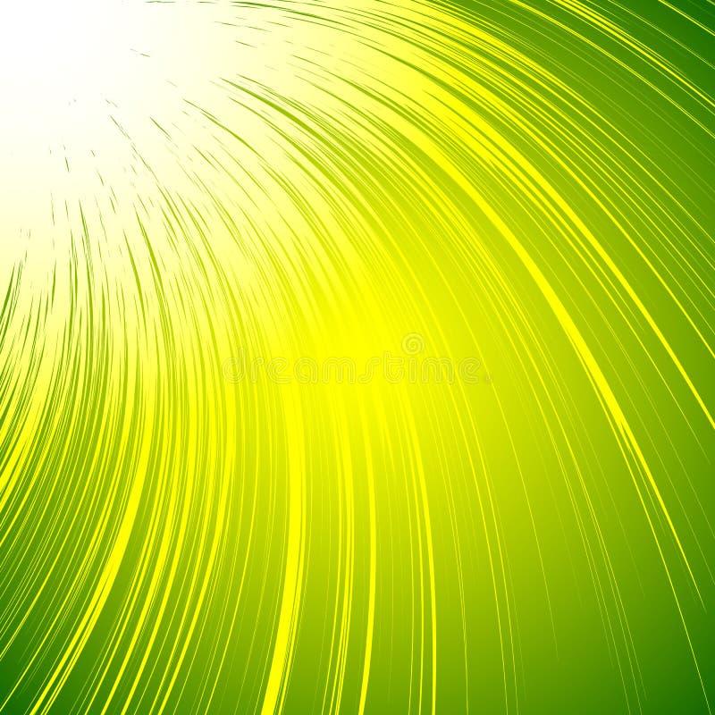 Klarer bunter Hintergrund mit gewundenem Motiv Abstrakte Spirale, Co stock abbildung