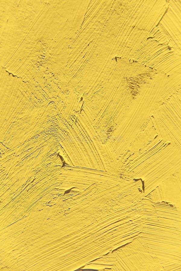 Klarer Primelgelb Pantone Farbe Nah Oben Malen Stockfoto - Bild von ...