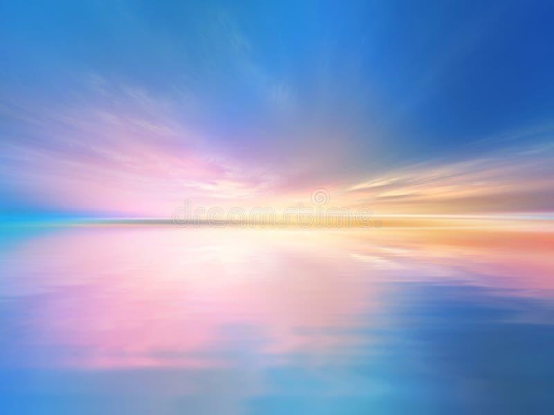 Klarer Sonnenaufgang lizenzfreie abbildung