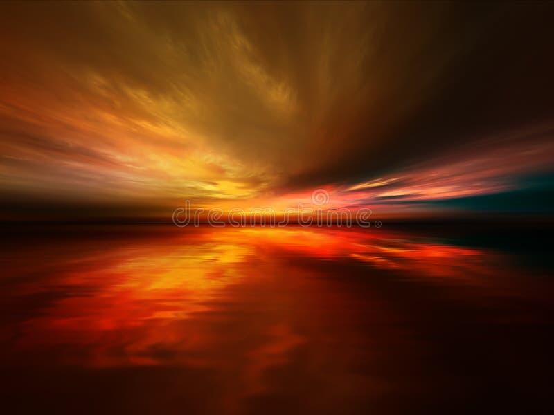 Klarer Sonnenuntergang lizenzfreie abbildung