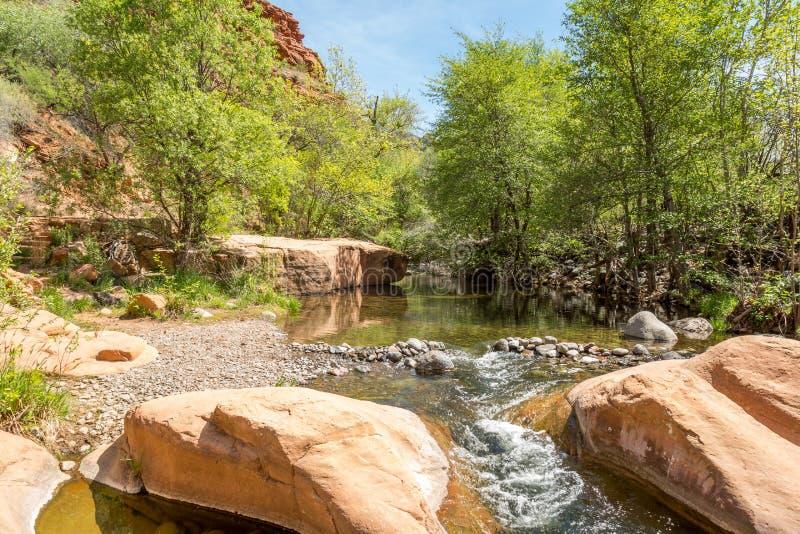 Klarer Westnebenfluß Arizona stockbild