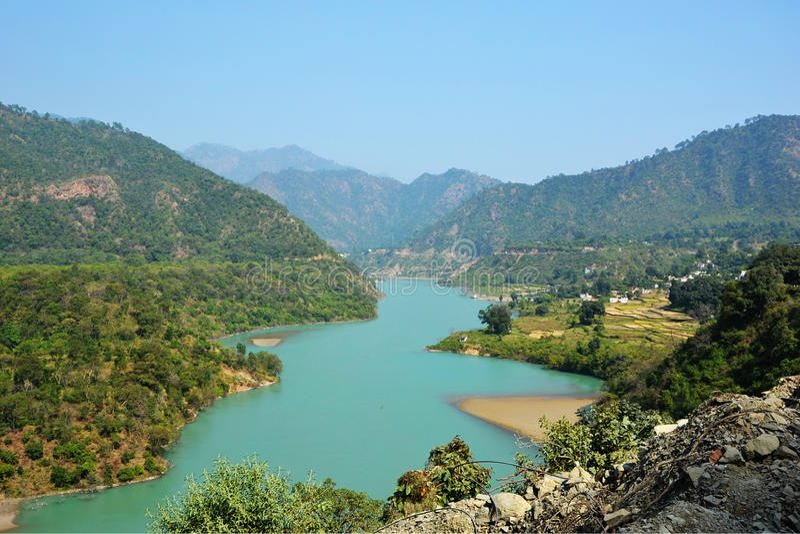 Klares Ganga stockfotos