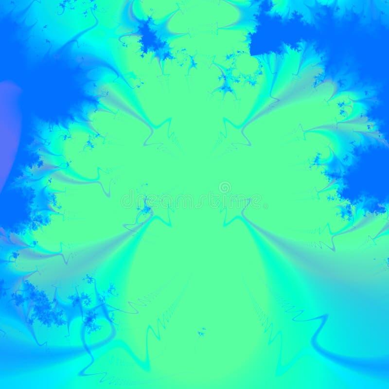 Klares Grün und blauer abstrakter Hintergrund oder Tapete lizenzfreie abbildung