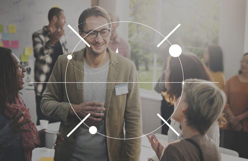 Klarheits-Nahaufnahme-Schwerpunkt-Scheinwerfer-Ziel-Visions-Konzept lizenzfreie stockbilder