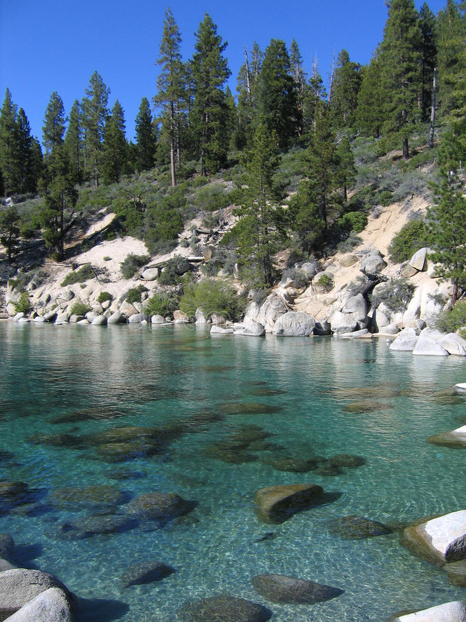klarhet Lake Tahoe arkivfoto