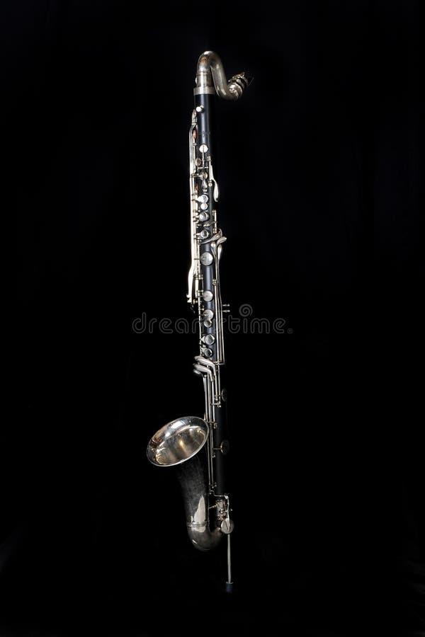 klarinett för bas 002 royaltyfri bild