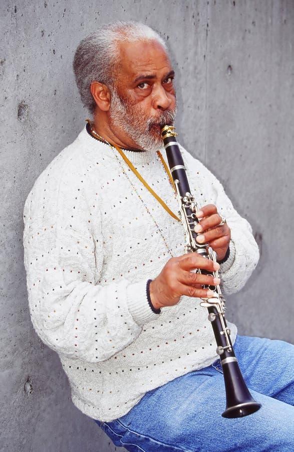 klarinettspelare arkivbilder