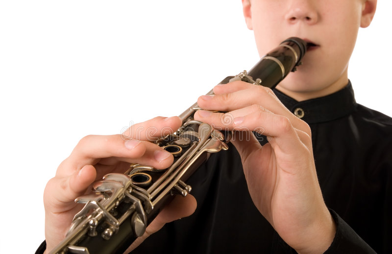 klarinettspelare royaltyfri foto