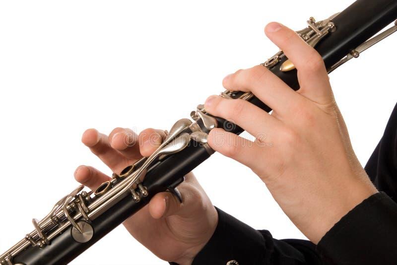 klarinettspelare royaltyfri fotografi