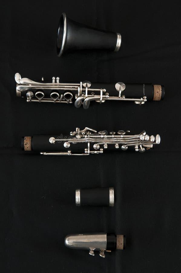 Klarnet - klasyczny instrument obraz stock
