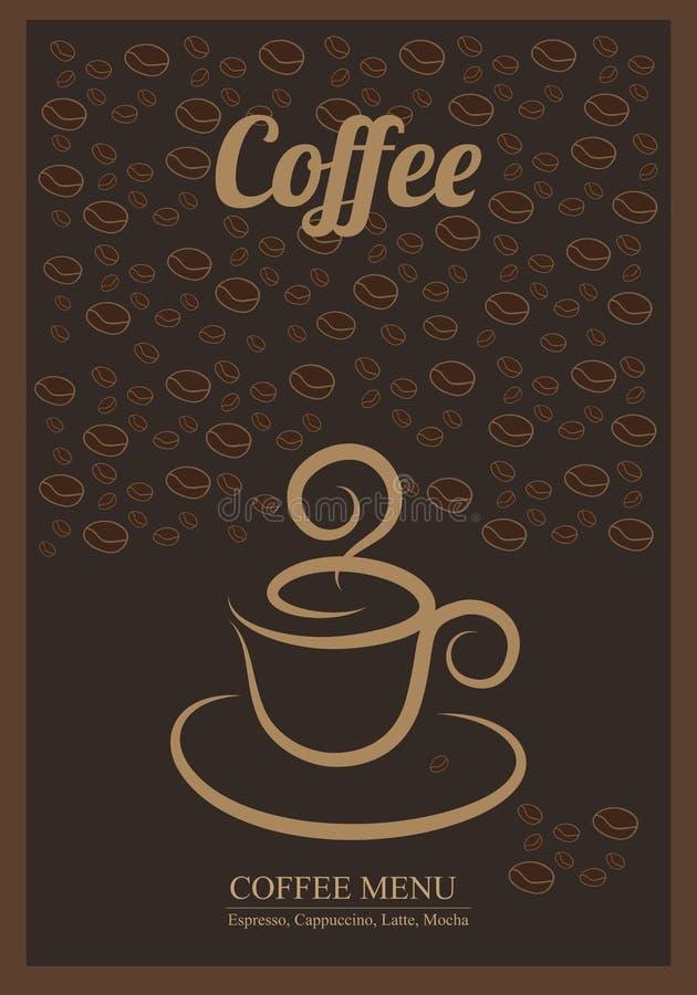 klart bruk för bakgrundskaffe stock illustrationer