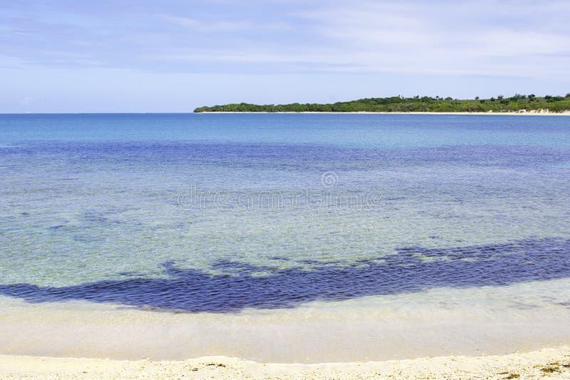 Klart fijianskt vatten royaltyfria bilder