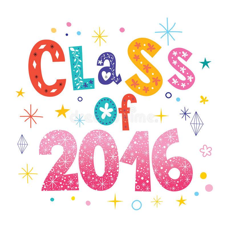 Klasa 2016 ilustracja wektor