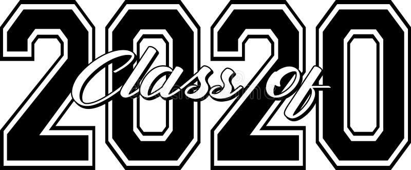 Klasa grafiki z pogrubieniem 2020 ilustracja wektor