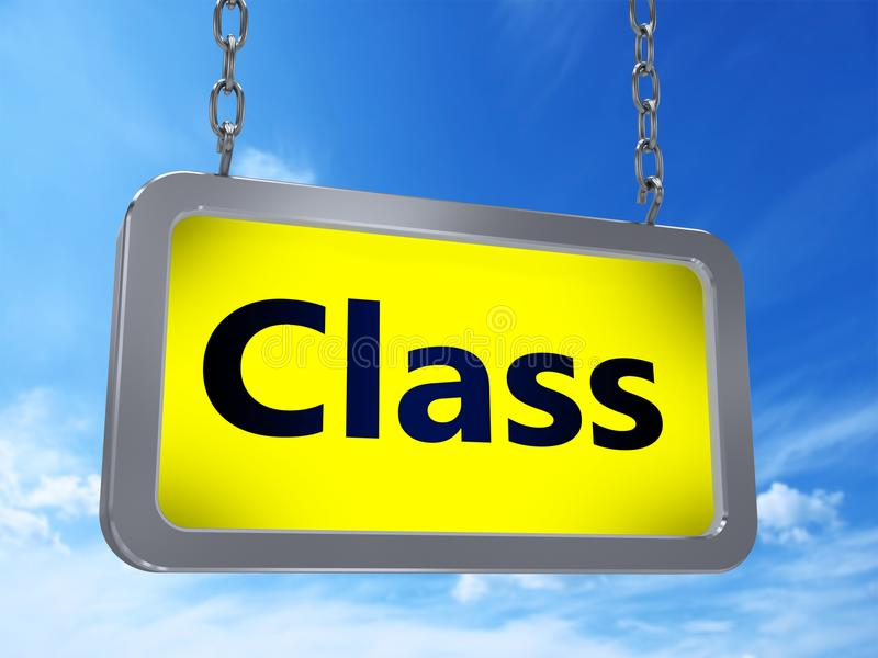 Klasa na billboardzie ilustracji