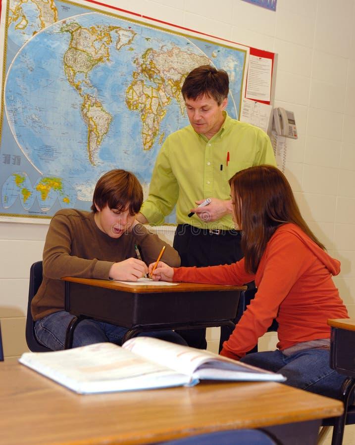 klasa studentów nauczyciel zdjęcia stock
