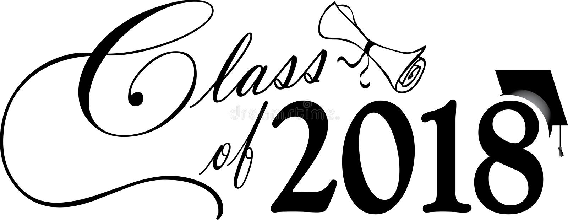 Klasa 2018 z nakrętką i dyplomem zdjęcia royalty free