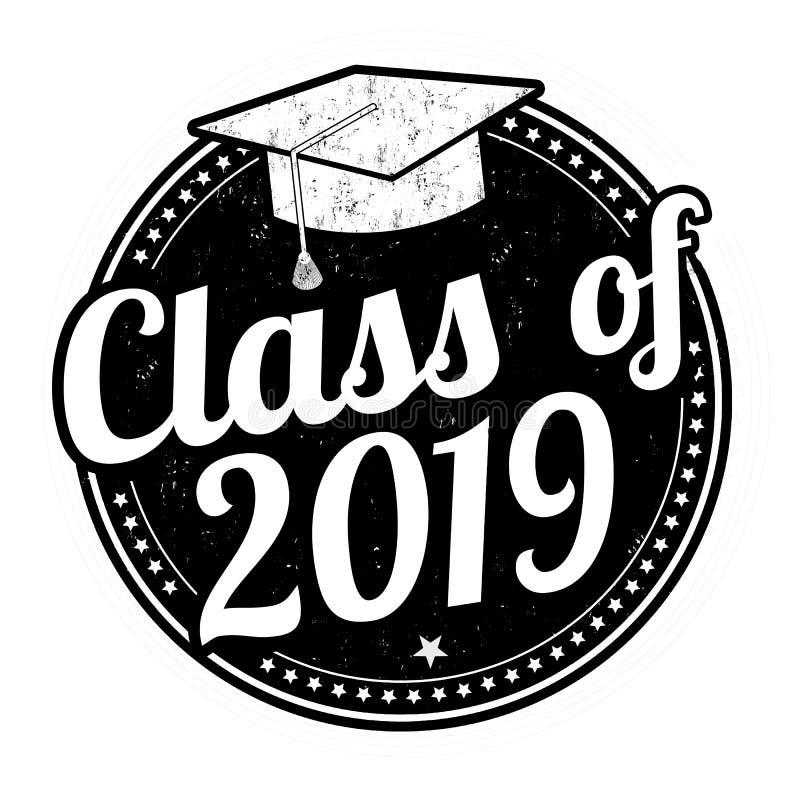 Klasa 2019 znaczek ilustracji