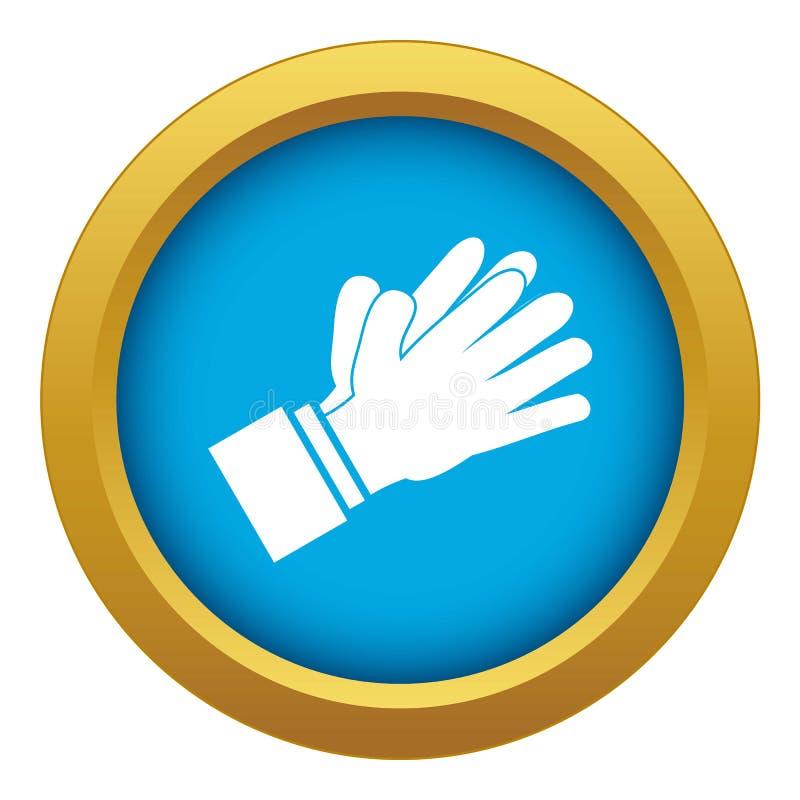 Klaskać oklaskujący ręki ikony błękitnego wektor odizolowywającego ilustracji