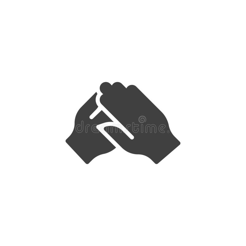 Klaskać ręka gesta wektoru ikonę ilustracji