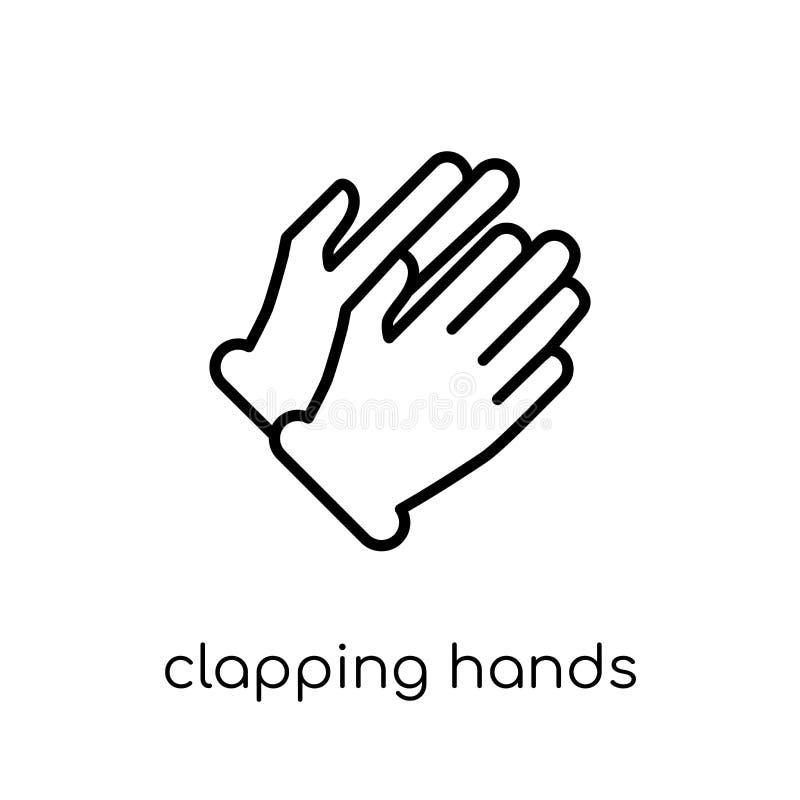Klaskać ręki ikonę Modny nowożytny płaski liniowy wektorowy Klascze H ilustracja wektor