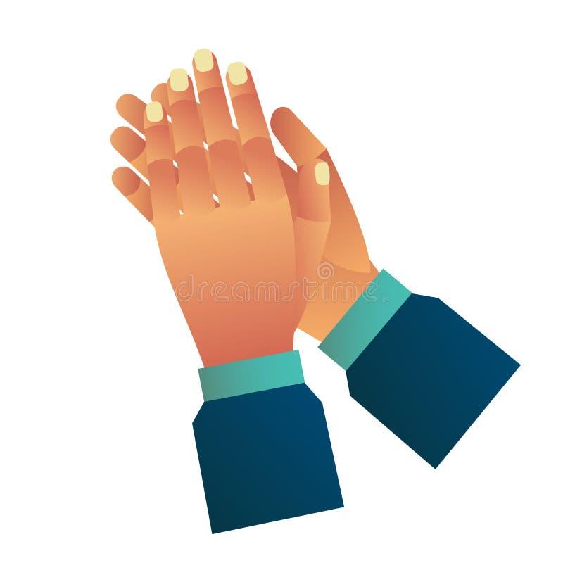 Klaskać ręki lub oklaskiwać gratulowanie aplauz odosobniony royalty ilustracja