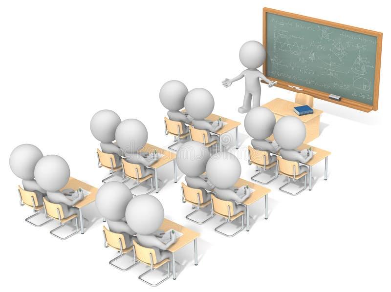 Klaslokaal stock illustratie