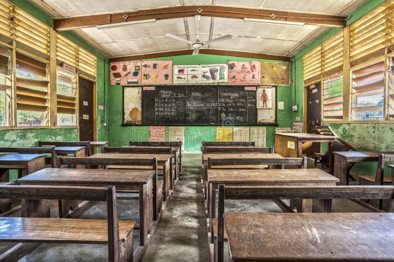 Klaslokaal in Ghana, West-Afrika royalty-vrije stock afbeelding