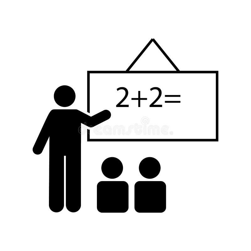Klaslokaal, seminarie, leraarspictogram Element van het pictogram van het onderwijspictogram Grafisch het ontwerppictogram van de stock illustratie