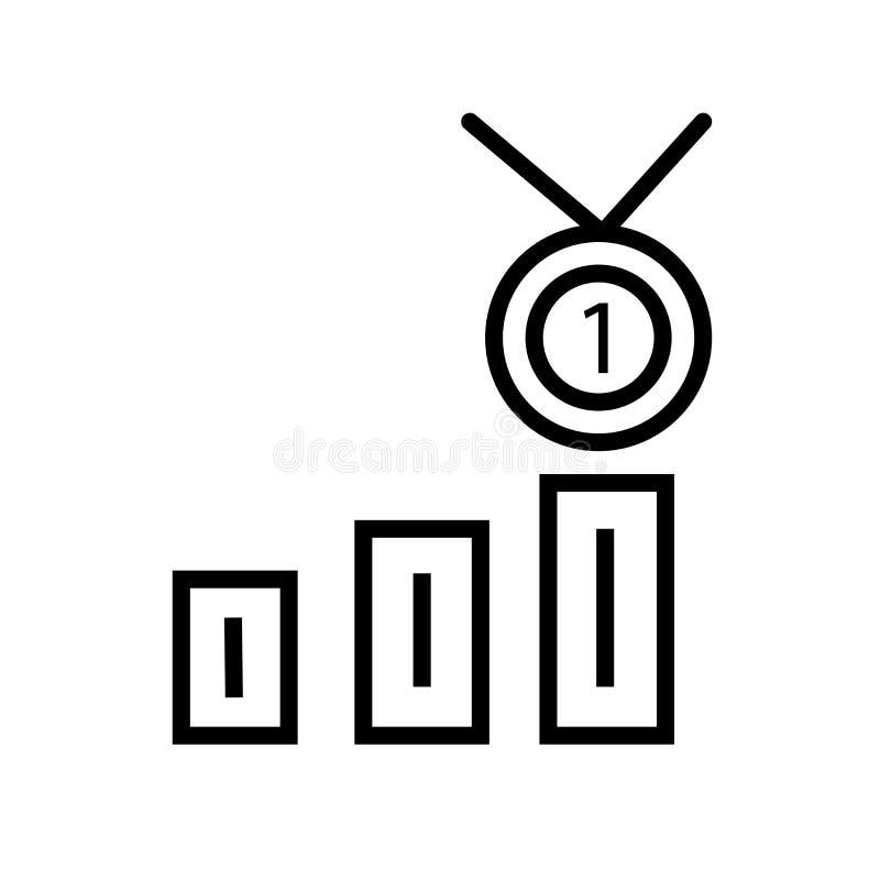Klasowy nagrody ikony wektor odizolowywający na białym tle, Klasowy nagroda znak, liniowy symbol i uderzenie, projektujemy elemen royalty ilustracja