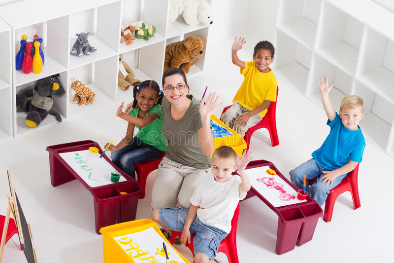 klasowy preschool obraz stock