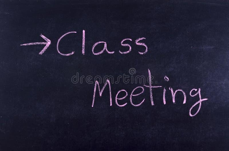 Klasowy spotkanie na blackboard obraz stock