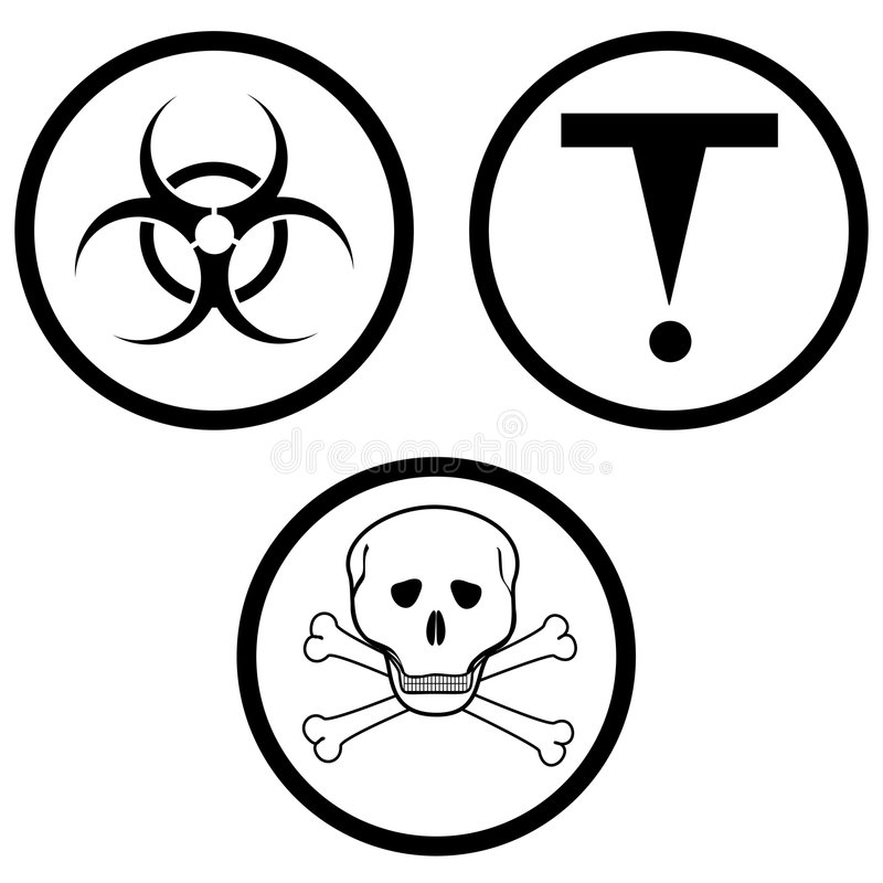 Klasse D van gevaarlijke materialen. royalty-vrije illustratie