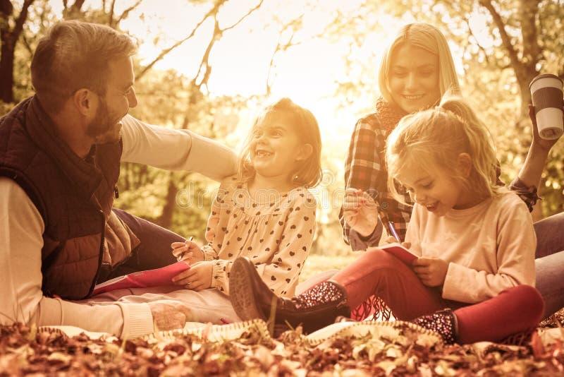 Klasse op de herfstdag royalty-vrije stock foto's