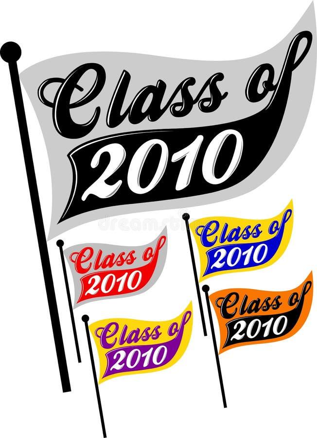 Klasse van de Wimpel van 2010 vector illustratie