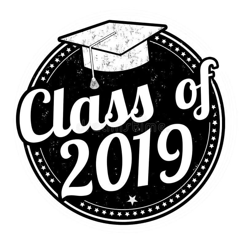 Klasse van de zegel van 2019 royalty-vrije illustratie