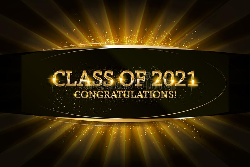 Klasse von 2021 Glückwunsch-Absolvent stock abbildung