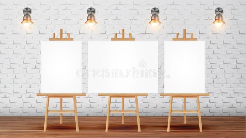 Klassenzimmer für Maler-Course With Equipment-Vektor stock abbildung