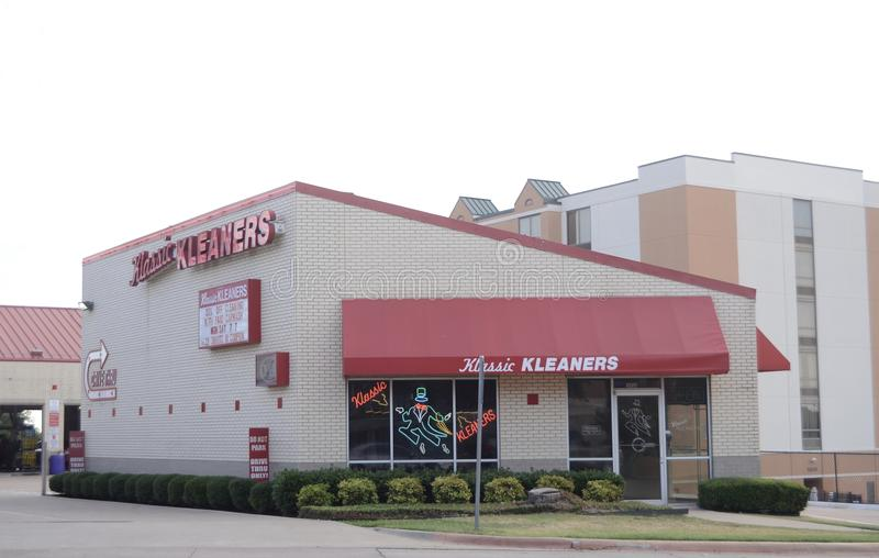 Klassic Cleaners Fort Worth, Texas stock photo