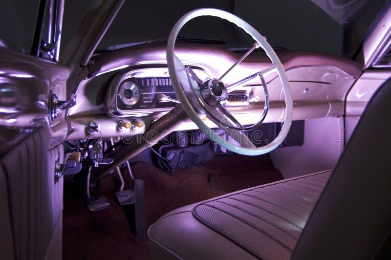 Klassiek autobinnenland royalty-vrije stock afbeelding